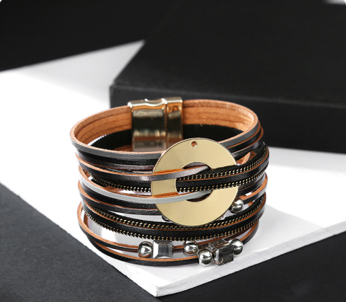 Ricordi Ceramic Leather Bracelet