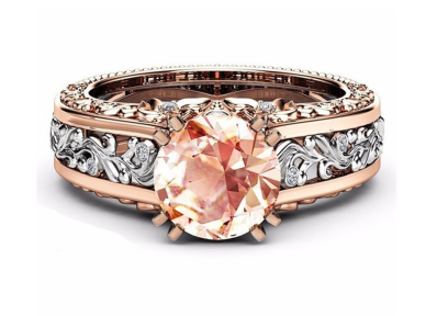 Collection: Champagne Gemstone Diamond Ring