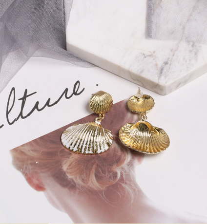 The Ocean Golden Plated Earrings