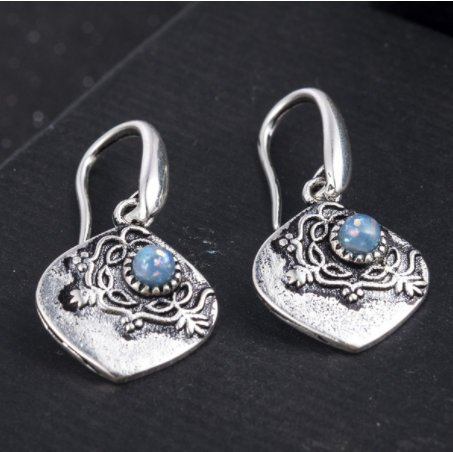 Specially Handcrafted Antique Labradorite Earrings