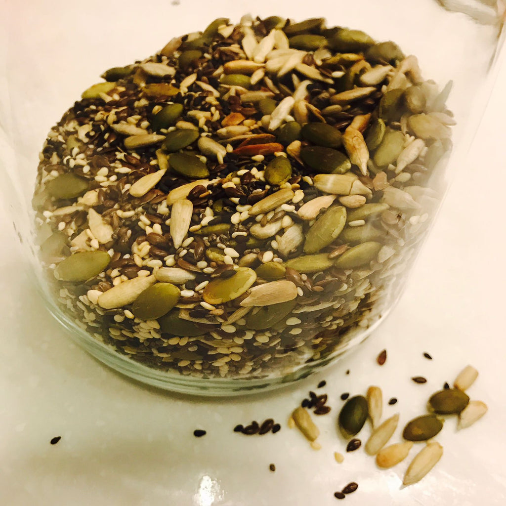 seeds in a jar