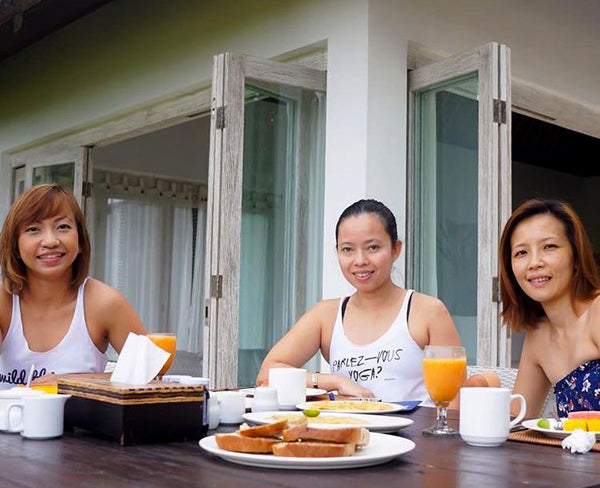 Hana, Lina and Aliya - Breakfast of Champions