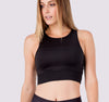 Black Racer Crop Top - OHSOSOM | Yoga Clothing & Accessories
