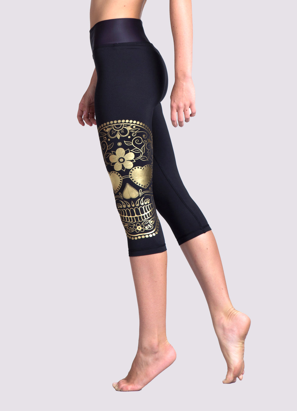 Catrina Capris Leggings - OHSOSOM | Yoga Clothing & Accessories