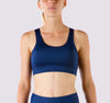 Laced Up Bra - Blue Saffron - OHSOSOM | Yoga Clothing & Accessories