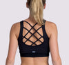 Laced Up Bra - Black - OHSOSOM | Yoga Clothing & Accessories