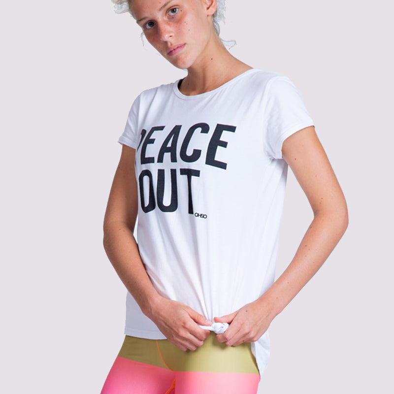 Peace Out Tee - OHSOSOM | Yoga Clothing & Accessories