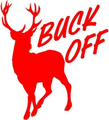 Sticker Buck Off