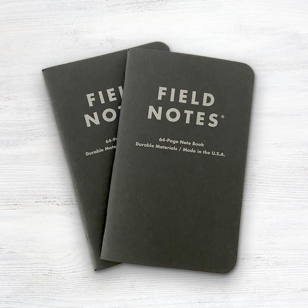 Field Notes Pitch Black Dot Graph Note Book 2-Pack