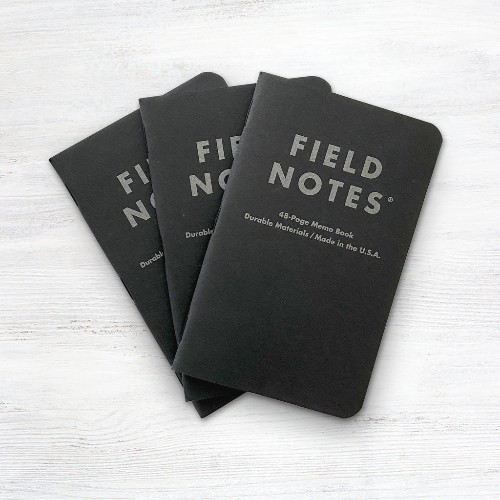 Field Notes Pitch Black Ruled Memo Book 3-Pack