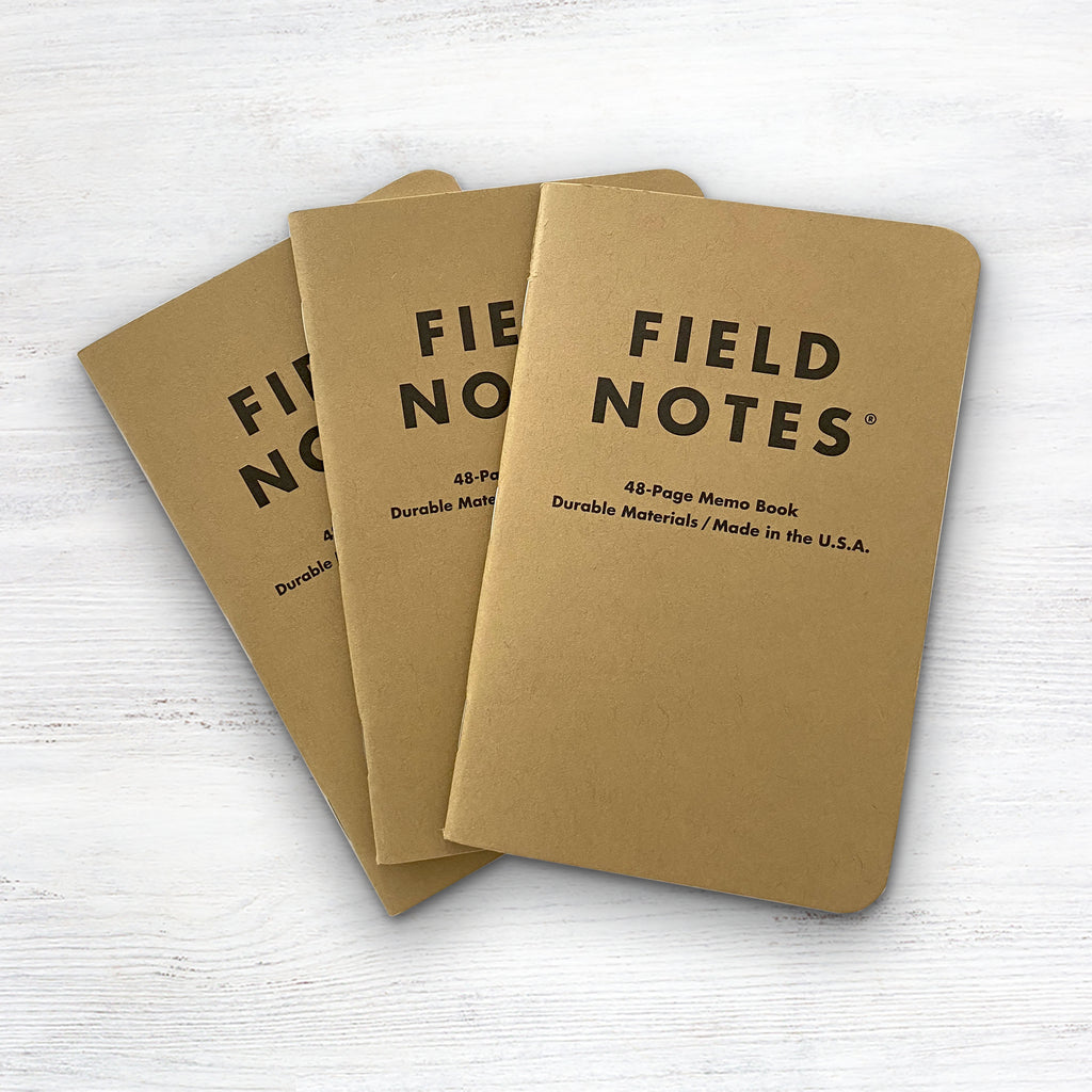 Field Notes Original Kraft Ruled 3-Pack