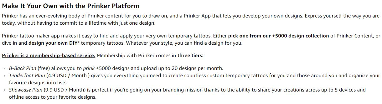 Prinker S custom Tattoo Printer