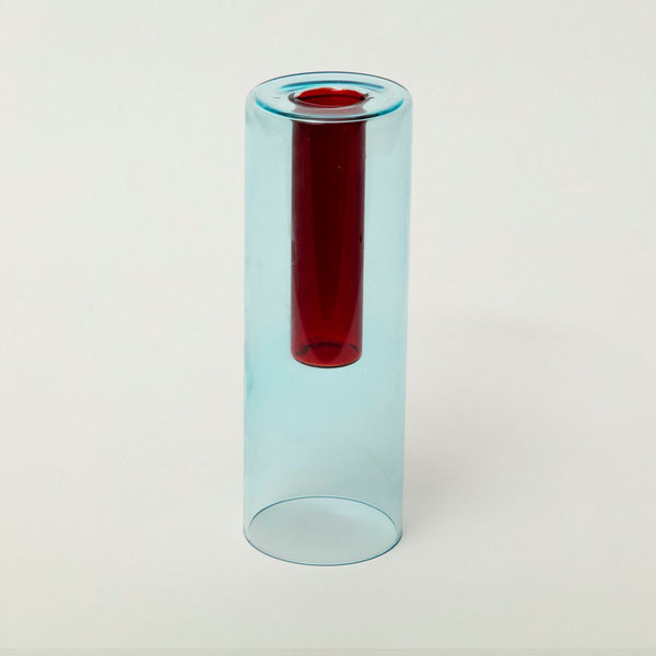 Reversible Glass Vase - Blue