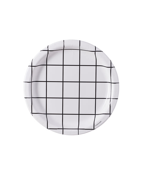 Classic Windowpane Party Plate