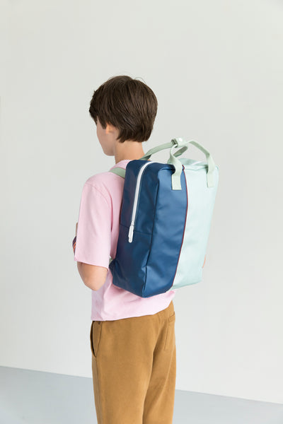 Vertical Bag - Navy/SkyBlue