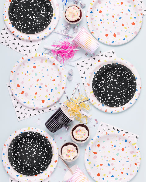 Black Chip Party Plate