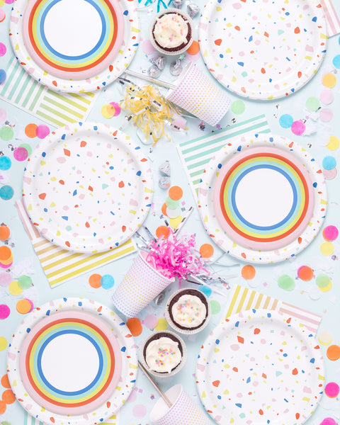 Double Rainbow Party Plate