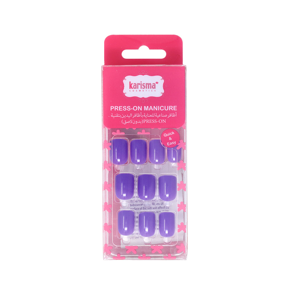 Karisma 24 Press-On Nails : Purple