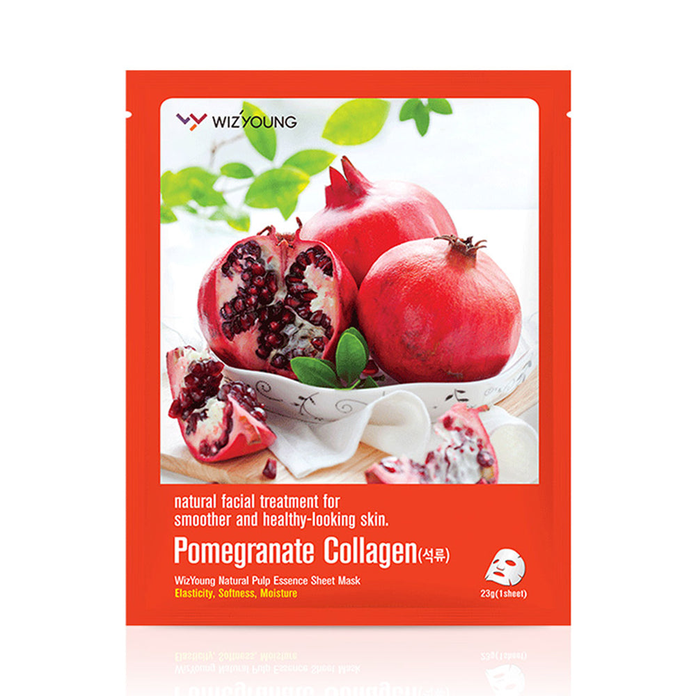 Wizyoung Pomegranate Collagen Essence Face Mask