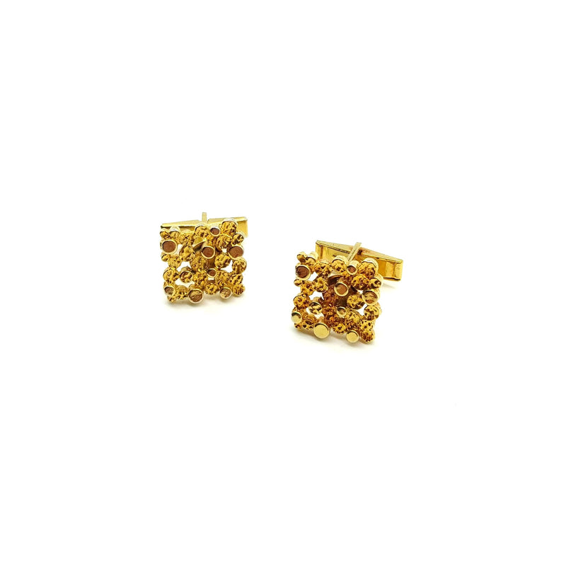 Gold Brutalist Cufflinks