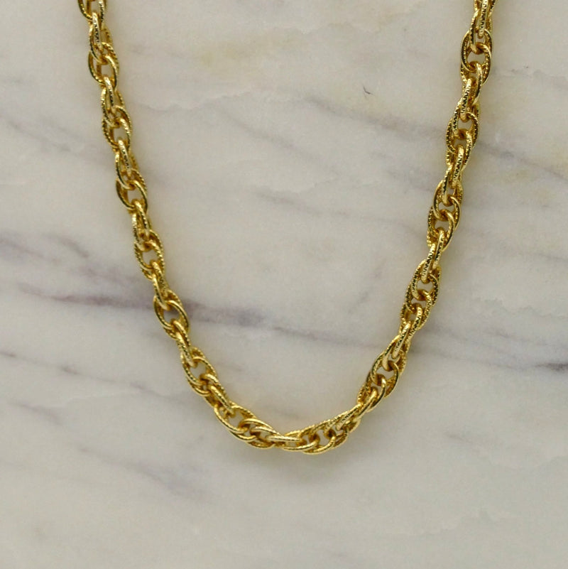Textured Gold Rope Chain