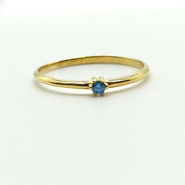 Delicate Gold and Aquamarine Ring
