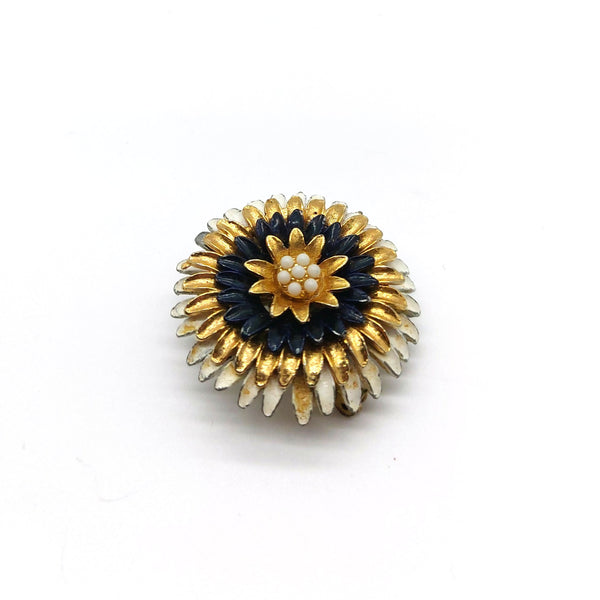 Black and Gold Brooch