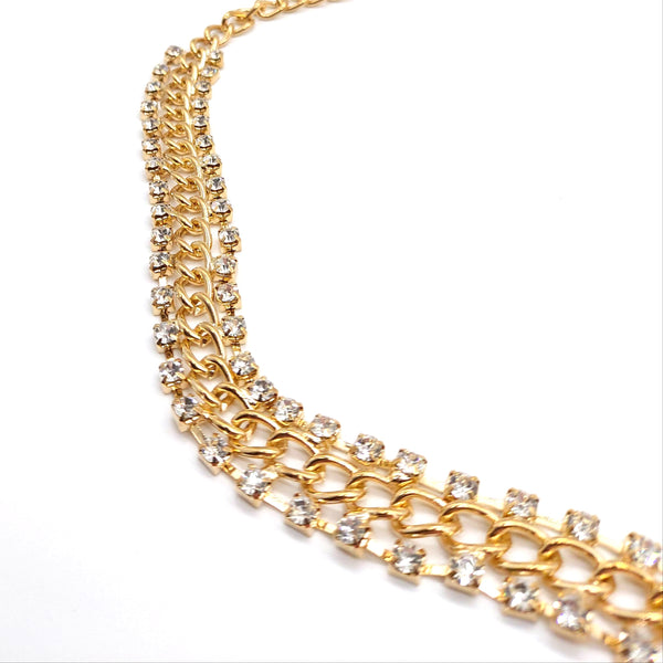 Gold and Diamante Necklace