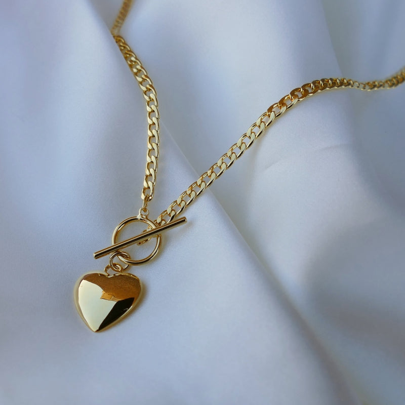 Firenze Love Heart Toggle Necklace