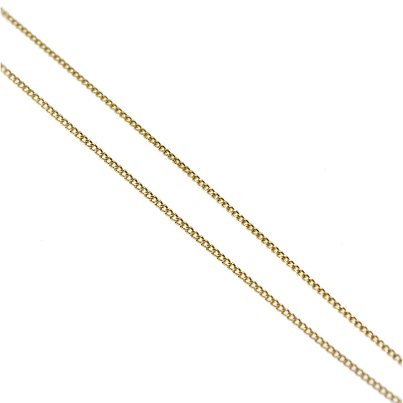 Salerno Gold Curb Chain Necklace