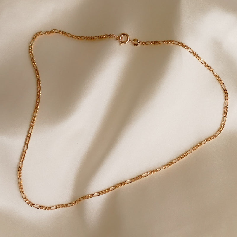Verona Gold Figaro Chain Necklace