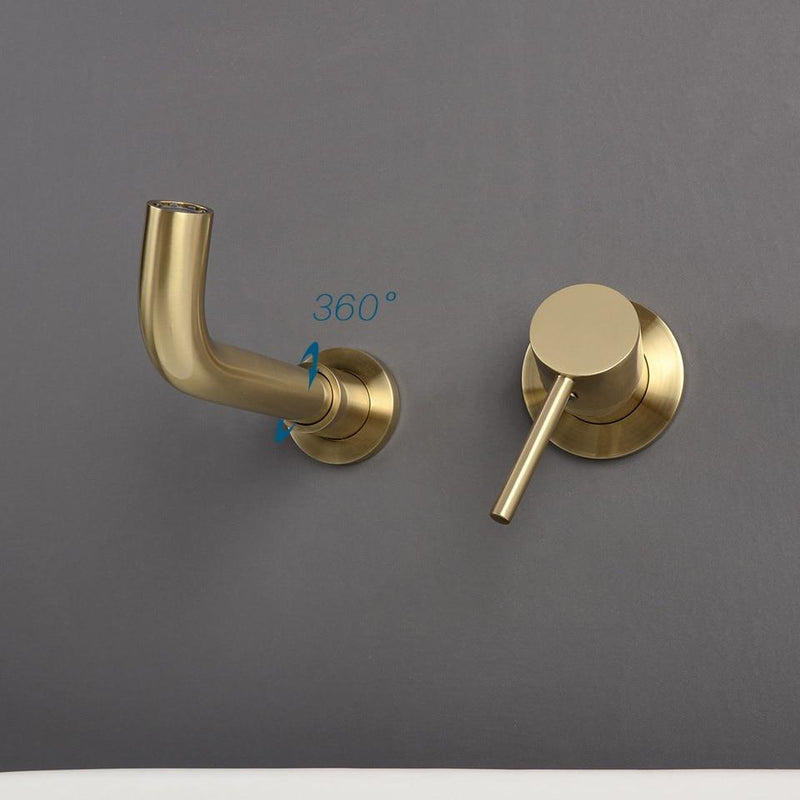 Modern Wall Mounted Bathroom Faucet