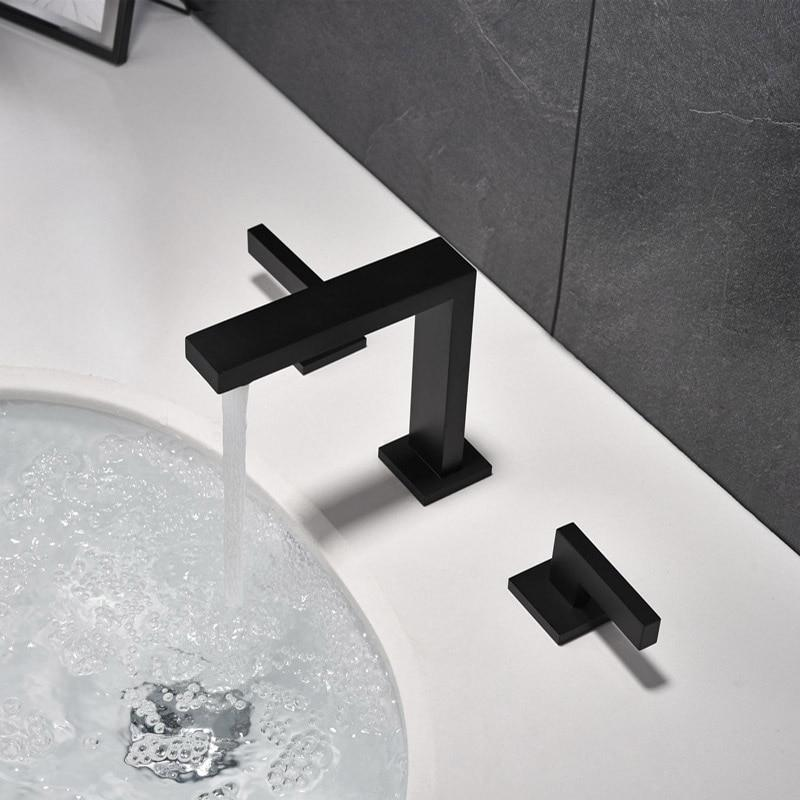 Widespread Modern Brass Bathroom Faucet