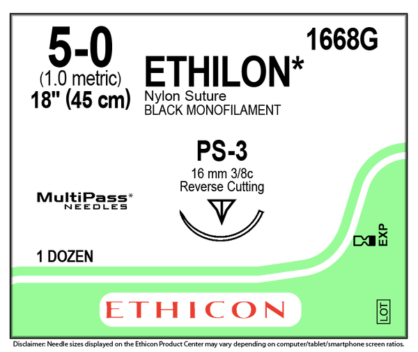 Ethicon | Ethilon 1668G SUTURES ProNorth Medical Corporation