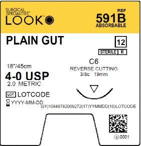 LOOK | PLAIN GUT 591B SUTURES ProNorth Medical Corporation