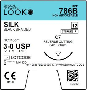 LOOK | SILK 786B SUTURES ProNorth Medical Corporation