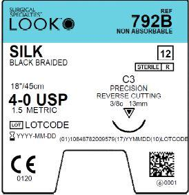 LOOK | SILK 792B SUTURES ProNorth Medical Corporation