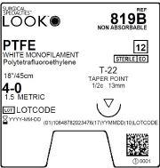 LOOK | PTFE 4-0 819B Sutures ProNorth Medical Corporation