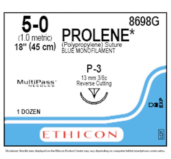 Ethicon | Prolene 8698G **Special Order Item** **Will take 7 days to ship** SUTURES ProNorth Medical Corporation