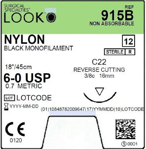LOOK | NYLON 915B SUTURES ProNorth Medical Corporation