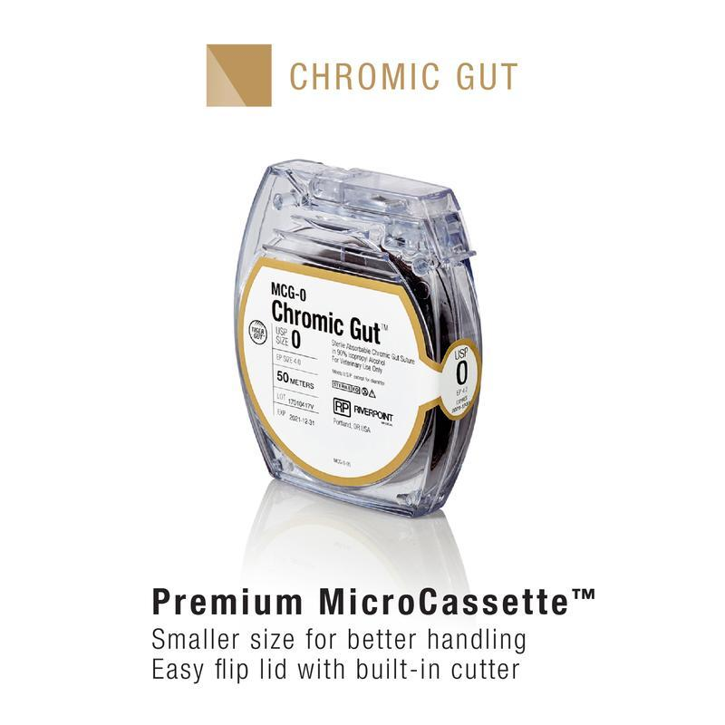 MCG-2/0 | Micro Cassette, Chromic Gut, Size 2-0, 50m ProNorth Medical Corporation