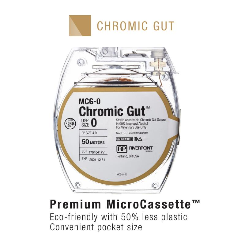 MCG-1 | Micro Cassette, Chromic Gut, Size 1, 50m ProNorth Medical Corporation