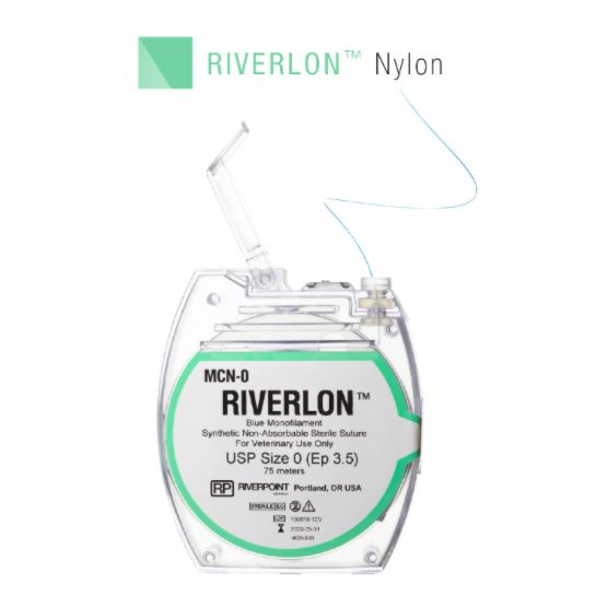 MCN-3/0 Micro Cassette, RIVERLON, Nylon Monofilament, Blue, Size 3-0, 100m $ 54.03 ProNorth Medical Corporation