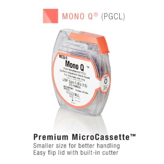 MCQ-2/0 | Micro Cassette, MONO Q, PGCL, Violet, Size 2, 25m ProNorth Medical Corporation