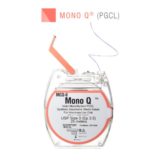 MCQ-3/0 | Micro Cassette, MONO Q, PGCL, Violet, Size 3-0, 25m ProNorth Medical Corporation