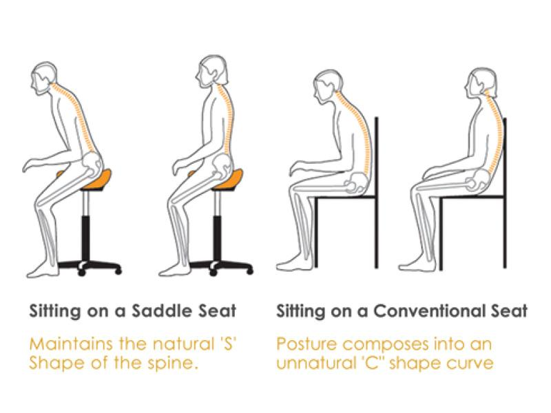 The Clave Saddle Stool Stool ProNorth Medical Corporation