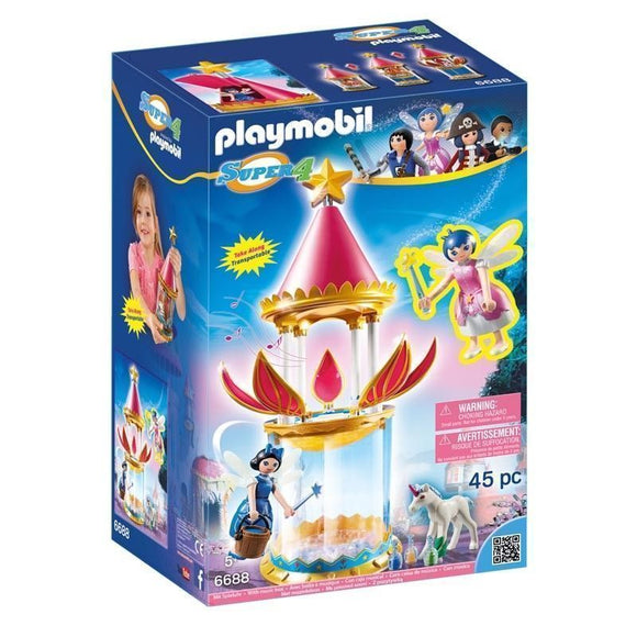Playmobil Super 4 Torre Flor Mágica Con Caja Musical Y Twinkle
