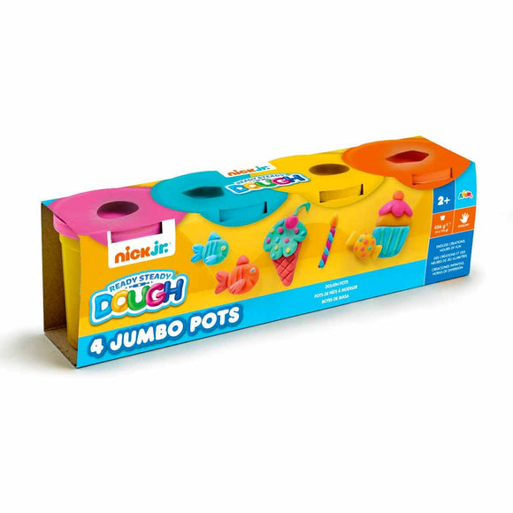 Ready Steady Dough Pack de 4 Botes de Plastilina