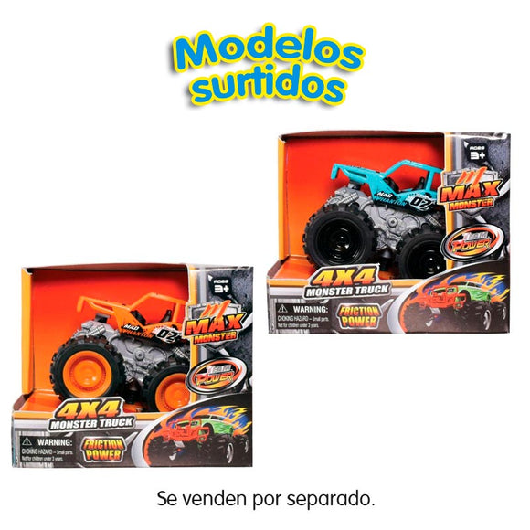 Max Monster Truck Coches 9 cm Surtidos