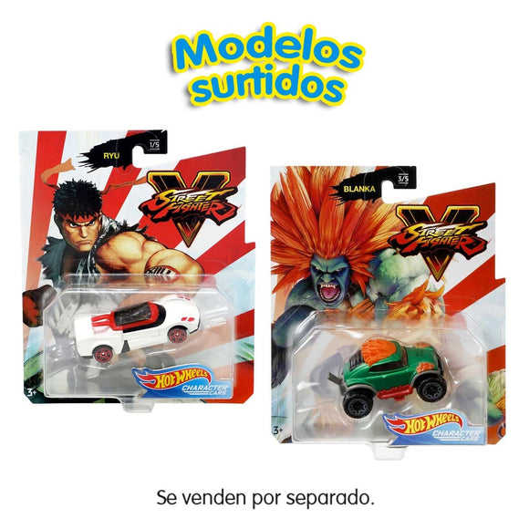Hot Wheels Coche Street Fighter (Varios Modelos)